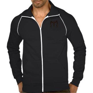 Metamorfoseia a jaqueta preta da trilha dos homens jaquetas estampadas