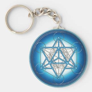 Metatrons cubo - Merkaba estrela Tetraeder - Chaveiro