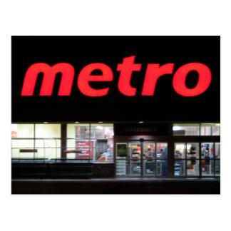 metro cartoes postais
