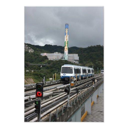 Metro de Taipei na estação do jardim zoológico de  Fotos