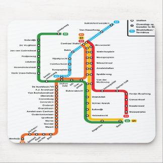 Metro Mousepad de Amsterdão