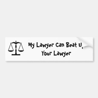 Meu advogado pode bater acima seu advogado adesivo para carro