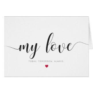 Meu amor, cartão do dia dos namorados
