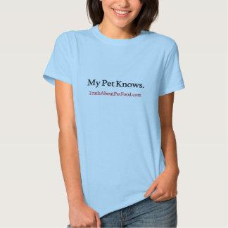 Meu animal de estimação sabe o t-shirt