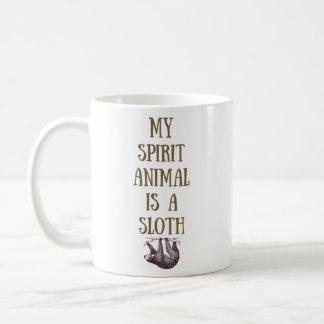 Meu animal do espírito é uma caneca da preguiça