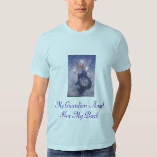 Meu anjo-da-guarda tem minha parte traseira t-shirts