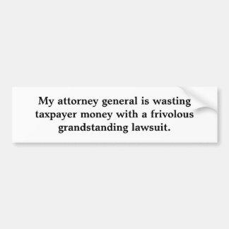 Meu Attorney General está desperdiçando o dinheiro Adesivo Para Carro