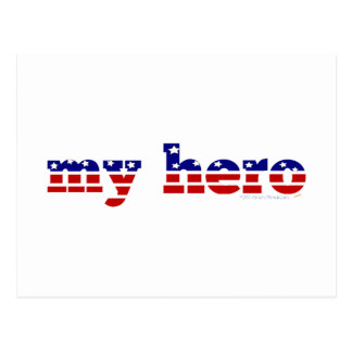Meu azul branco vermelho patriótico da bandeira cartão postal