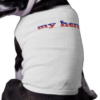 Meu azul branco vermelho patriótico da bandeira do camisetas para cães
