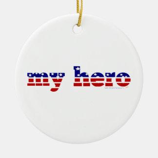 Meu azul branco vermelho patriótico da bandeira enfeites para arvore de natal