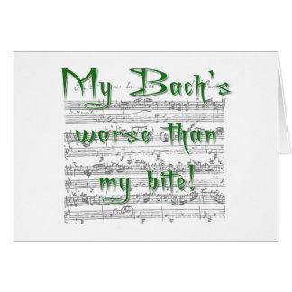 Meu Bach mais mau do que meu cartão da mordida