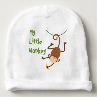 Meu Beanie pequeno do macaco Gorro Para Bebê