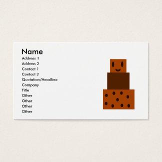 Meu bolo de chocolate feliz cartão de visitas