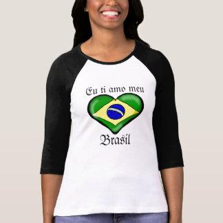 Meu Brasil do amo do ti do Eu Camiseta