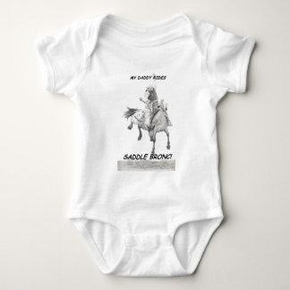 Meu bronc da sela dos passeios do pai body para bebê