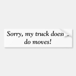 Meu caminhão não faz movimentos adesivos