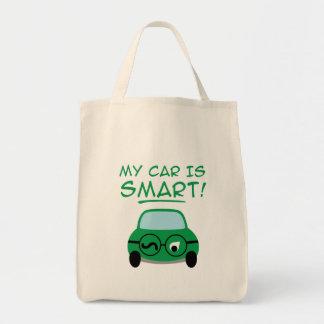 Meu carro é esperto sacola tote de mercado