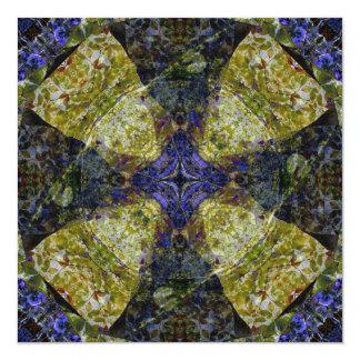 Meu cartão da arte da mandala da catedral convite quadrado 13.35 x 13.35cm