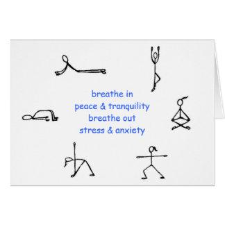 Meu cartão da mantra da ioga