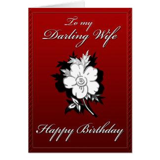 Meu cartão de aniversário querido da esposa