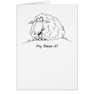 Meu cartão de aniversário tardivo dos carneiros