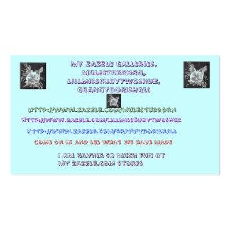 Meu cartão de visita das galerias de Zazzle