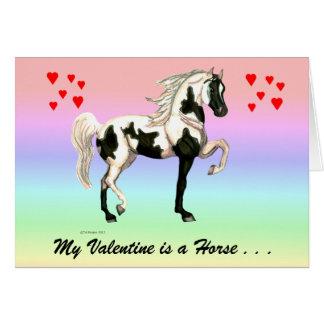 Meu cartão do cavalo dos namorados