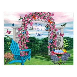 Meu cartão do jardim do quintal