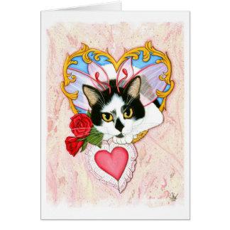 Meu cartão feericamente do gato dos namorados