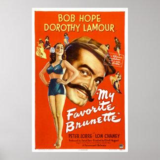 """""""Meu cartaz cinematográfico do vintage do Brunette Pôster"""