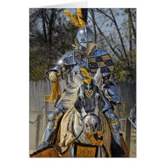 Meu cavaleiro em cartões de agradecimentos