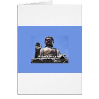 Meu cérebro e meu coração são meus templos Dalai Cartão Comemorativo