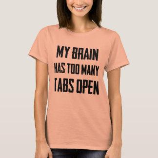 Meu cérebro tem t-shirt aberto demais das abas camiseta