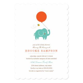 Meu chá de fraldas do balão | convite 12.7 x 17.78cm