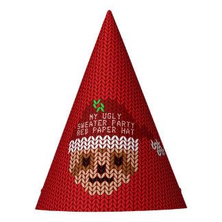 Meu chapéu de papel vermelho do partido feio da