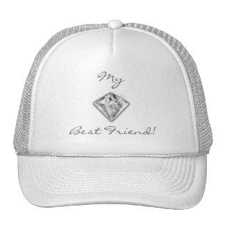 Meu chapéu do diamante do melhor amigo boné