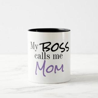 Meu chefe chama-me caneca de café da mamã
