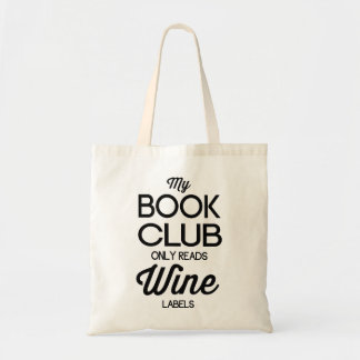 Meu clube de leitura lê somente etiquetas do vinho sacola tote budget
