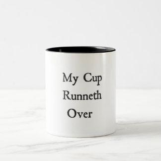 Meu copo Runneth sobre a caneca