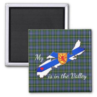 Meu coração é a imã de geladeira de Nova Escócia