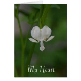 Meu coração é seu cartão do coração de sangramento