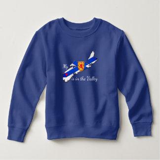 Meu coração está na camisa de Nova Escócia do vale