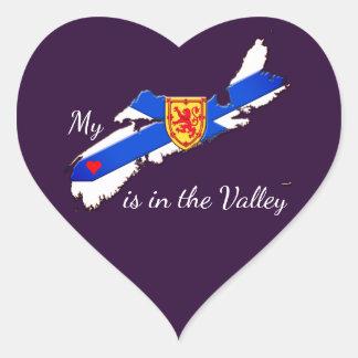 Meu coração está na etiqueta de Nova Escócia do
