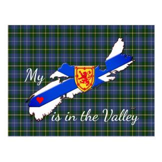 Meu coração está no cartão de Nova Escócia do vale
