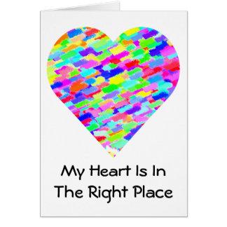 Meu coração está no cartão direito do dia dos