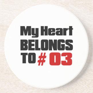 Meu coração pertence # a 03 porta copos de arenito