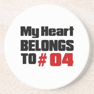 Meu coração pertence # a 04 porta copos de arenito