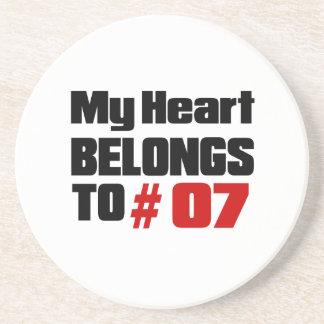 Meu coração pertence # a 07 porta copos de arenito