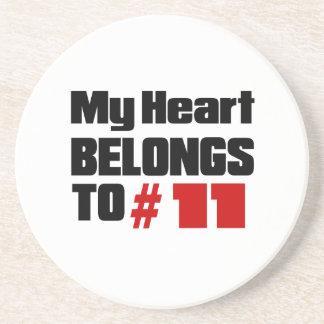 Meu coração pertence # a 11 porta copos de arenito