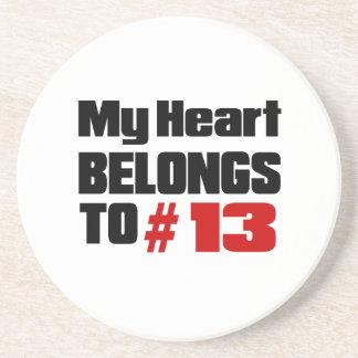 Meu coração pertence # a 13 porta copos de arenito